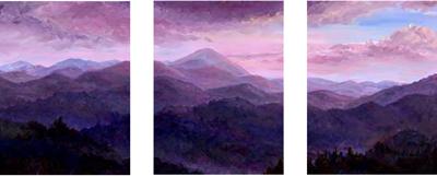 Mountain Art Triptych panel