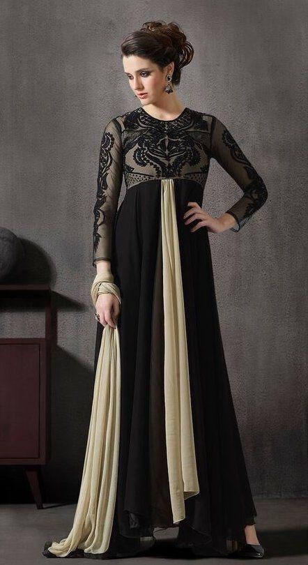 4da312ed4a9 Long Jalpari Style Pakistani Suit - Anarkali Suit