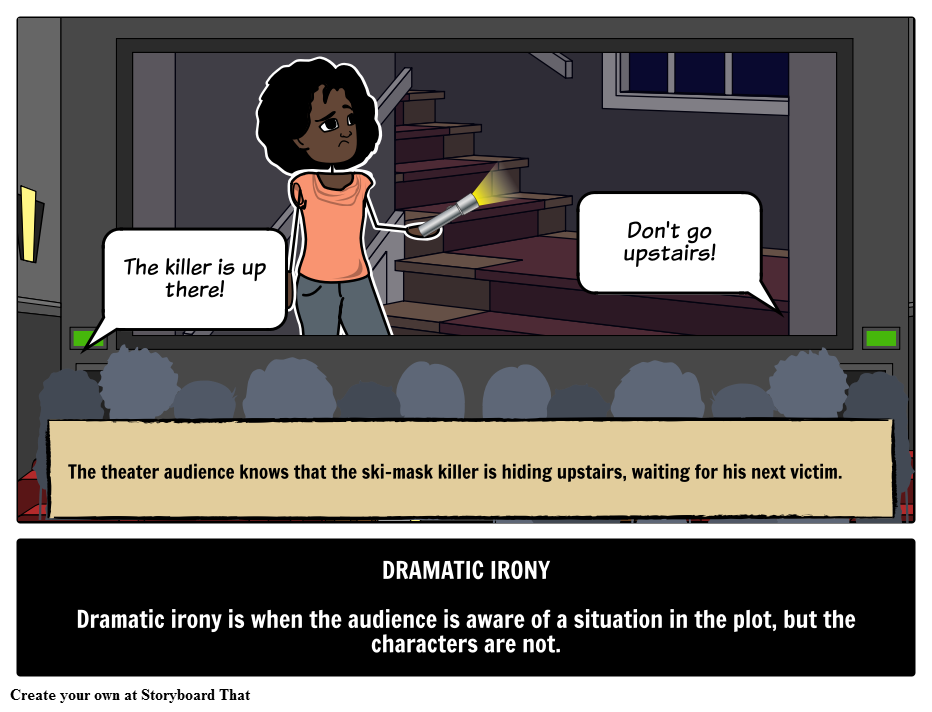 Find An Example Of Dramatic Irony With A Picture Storyboard Learn
