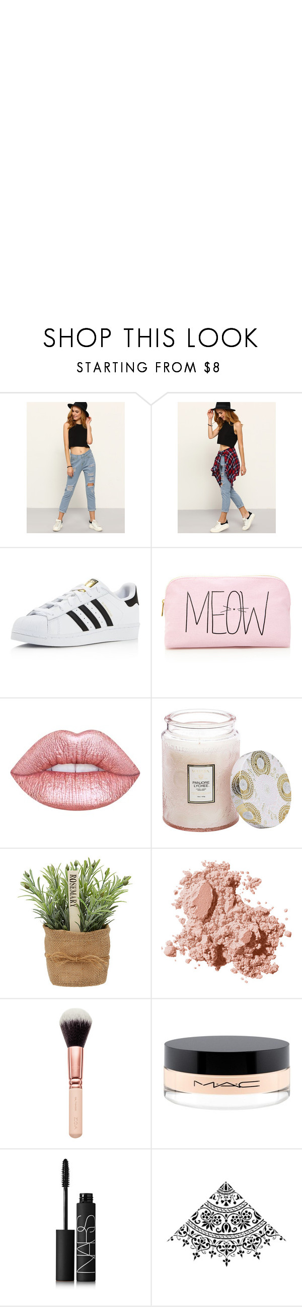 """""""What am i supposed to say? -Romwe"""" by rhiannonpsayer on Polyvore featuring Murphy, adidas, Forever 21, Lime Crime, Voluspa, Bobbi Brown Cosmetics, MAC Cosmetics and NARS Cosmetics"""