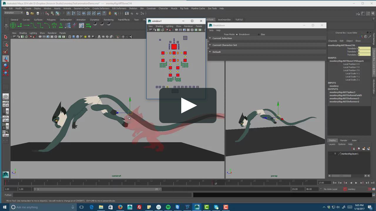 Monkey animation demo | Animation