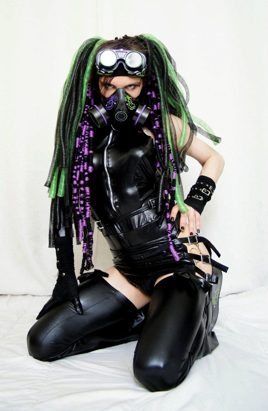 Cyber Goth Fetish Wear