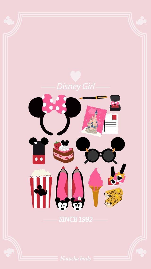 Disney Girl Minnie Pink Wallpaper Wallpaper Iphone Disney