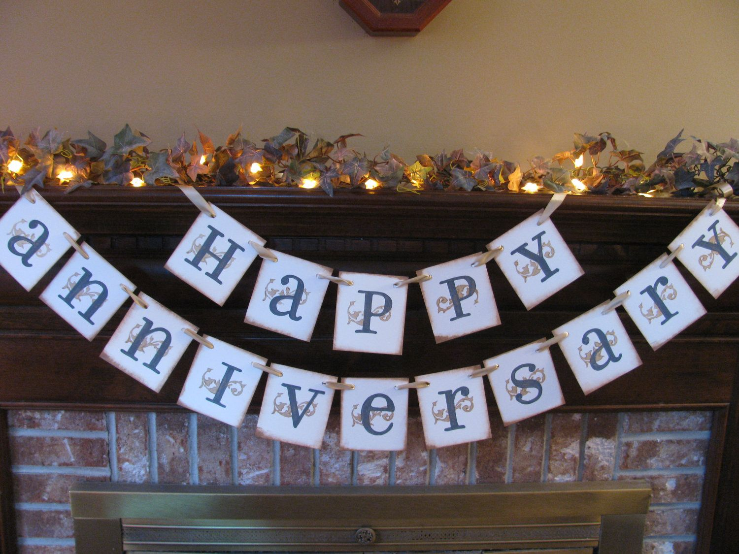 Wedding Banner Happy Anniversary Golden Anniversary 50th Garland ...