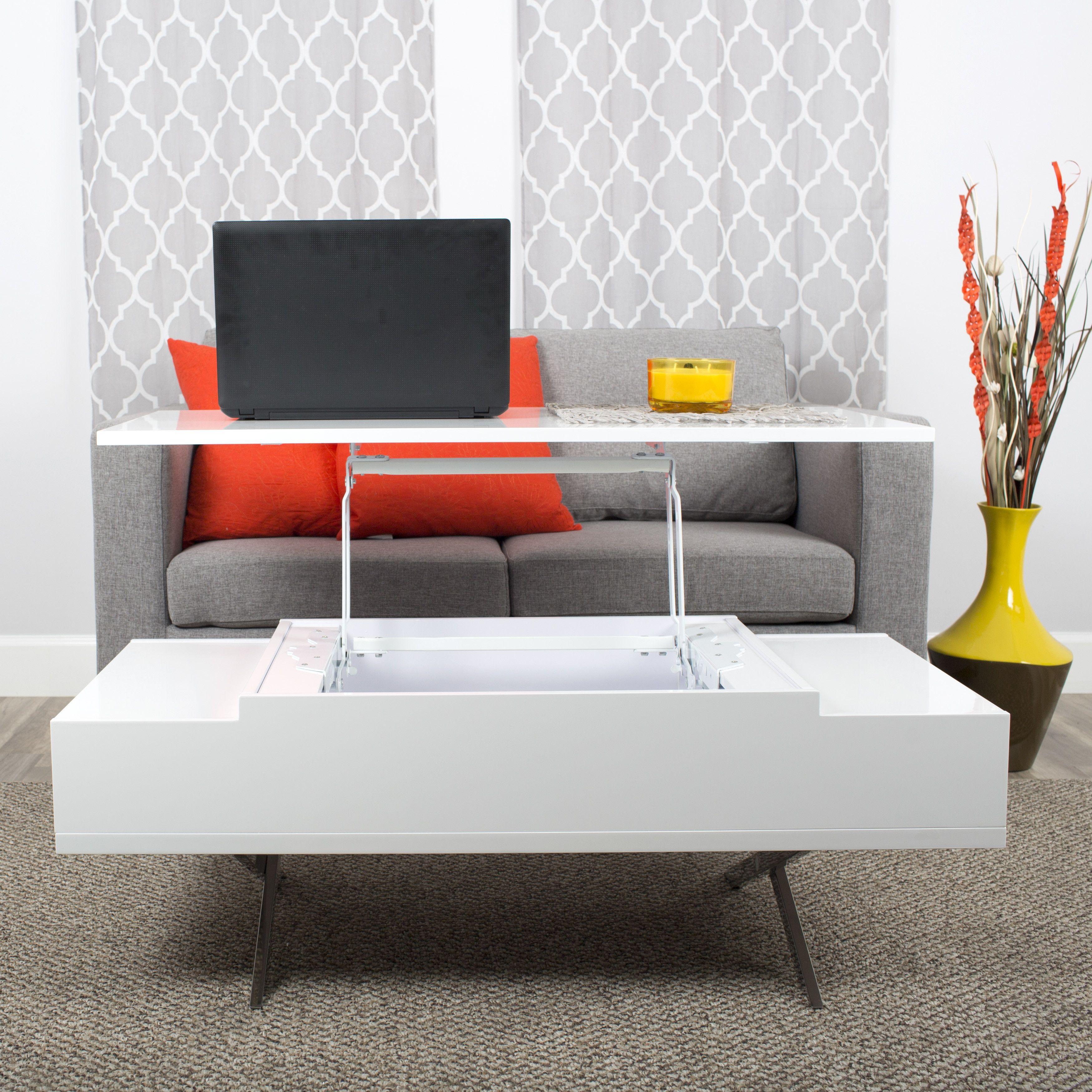Matrix Stelar White Lift Top Rectangular Coffee Table Home Coffee Tables Coffee Table Geometric Coffee Table [ 3500 x 3500 Pixel ]