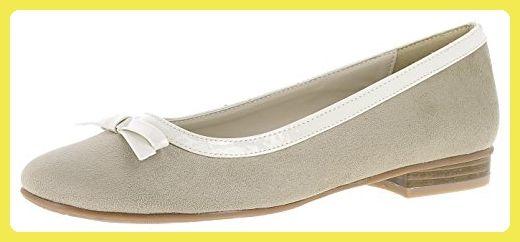 Caprice Damen Ballerinas Slipper Silber Größe 39 3cNzlR1bkI