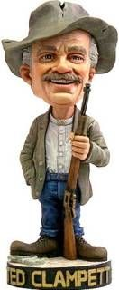 Television Show Collectibles from the 1970's - Beverly Hillbillies - Jed Clampett Bobble Head Nodder Doll