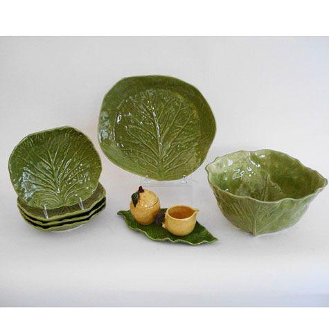 Barbara Eigen Handmade Ceramics Cabbage Leaf Dishes Ginger Leaf