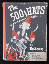 Vintage The 500 Hats of Bartholomew Cubbins (Dr. Seuss) 1st edition 2nd state