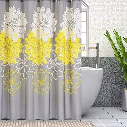 Peony Flower Shower Curtain For Bathroom Decor Fabric Waterproof Mildew Resistant With Hooks Stall 36 X 72 Inches