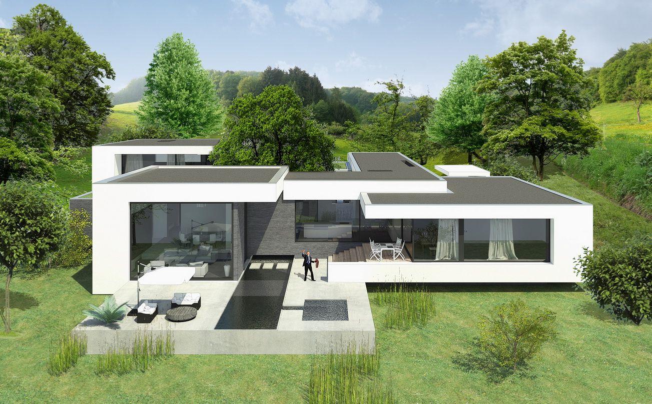 Moderner Hausbau ein patio verleiht jedem bungalow ein besonderes flair moderne