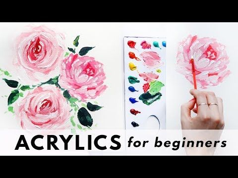 You Can Make Art, Really! Easy Acrylic Painting Ideas is part of Simple acrylic paintings, Floral paintings acrylic, Acrylic painting techniques, Painting tutorial, Acrylic tutorials, Acrylic painting canvas - Acrylic paints are so much fun to work with  These Acrylic Painting Ideas are perfect for the beginner who is ready to be an artist!