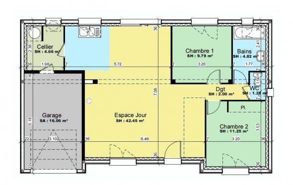 plan de maison 2 chambres avec mezzanine Projets à essayer Pinterest - plan maison m chambres