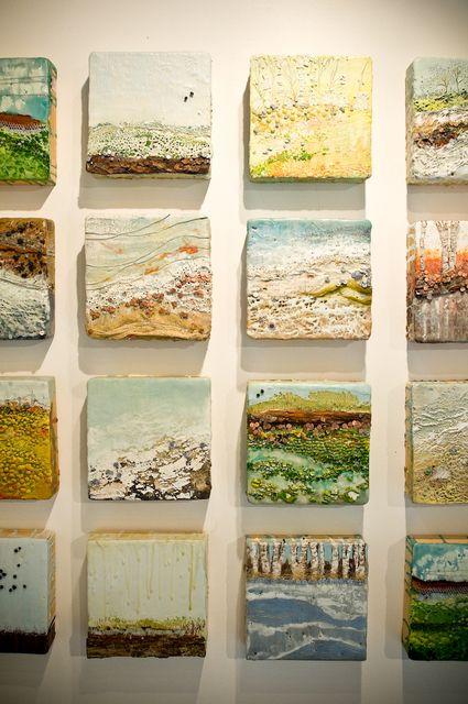 Cool idea making mini paintings on tiles robin luciano beaty studio