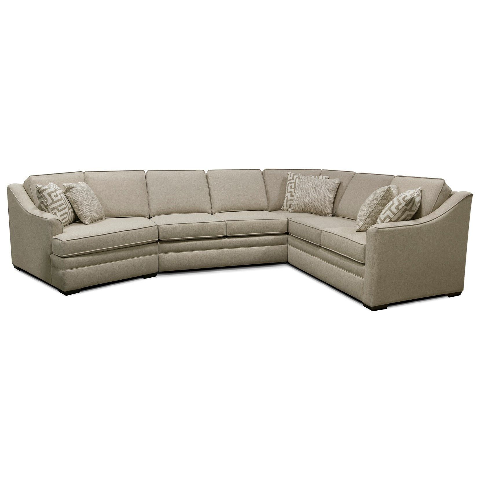 thomas sectional sofa with five seats by england home decor