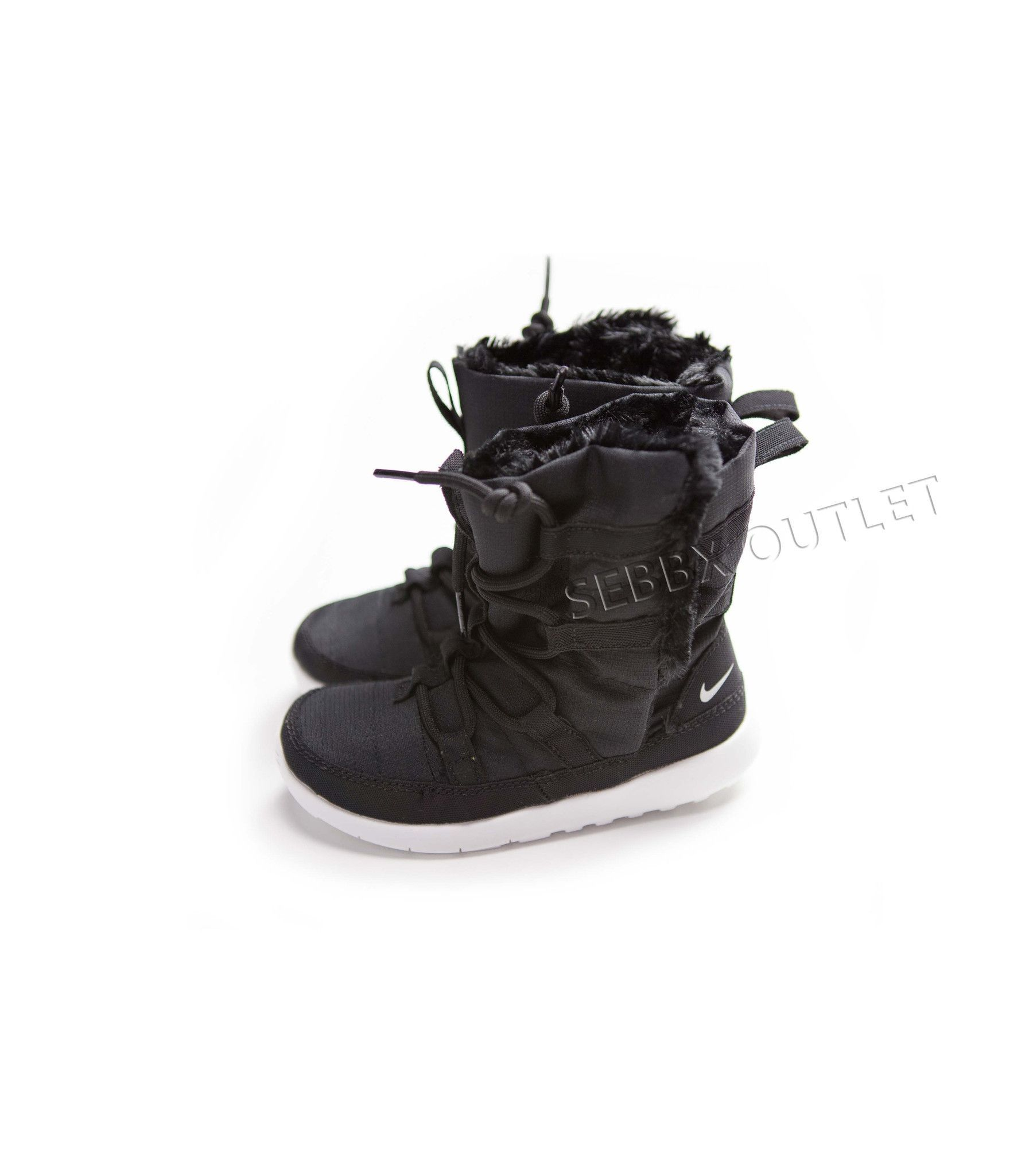 1ecb507aa7cd Nike Roshe One Hi Flash Boots Black Metallic