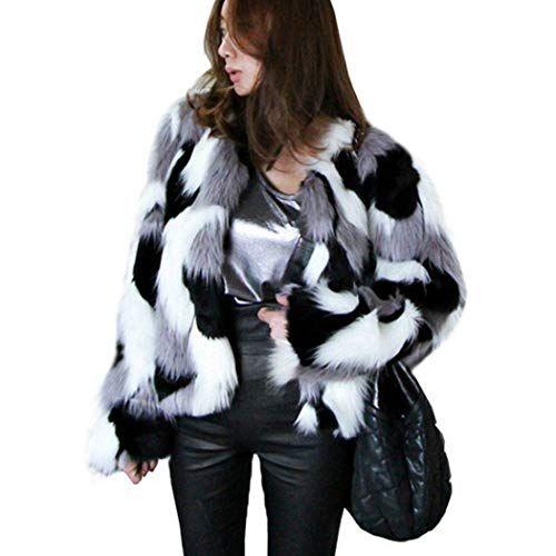 e69740555af4d New Women Long Sleeve Casual Club Party Fur Cardigan Jacket Coat Outwear  Winter
