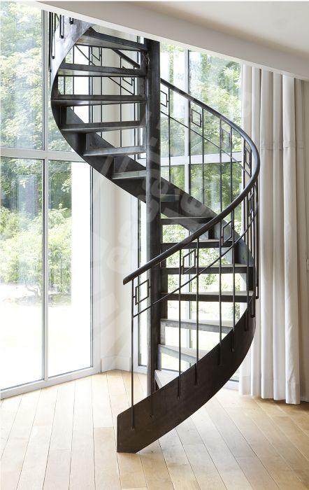 photo dh94 spir 39 d co caisson escalier int rieur m tal et bois h lico dal pour une d coration. Black Bedroom Furniture Sets. Home Design Ideas