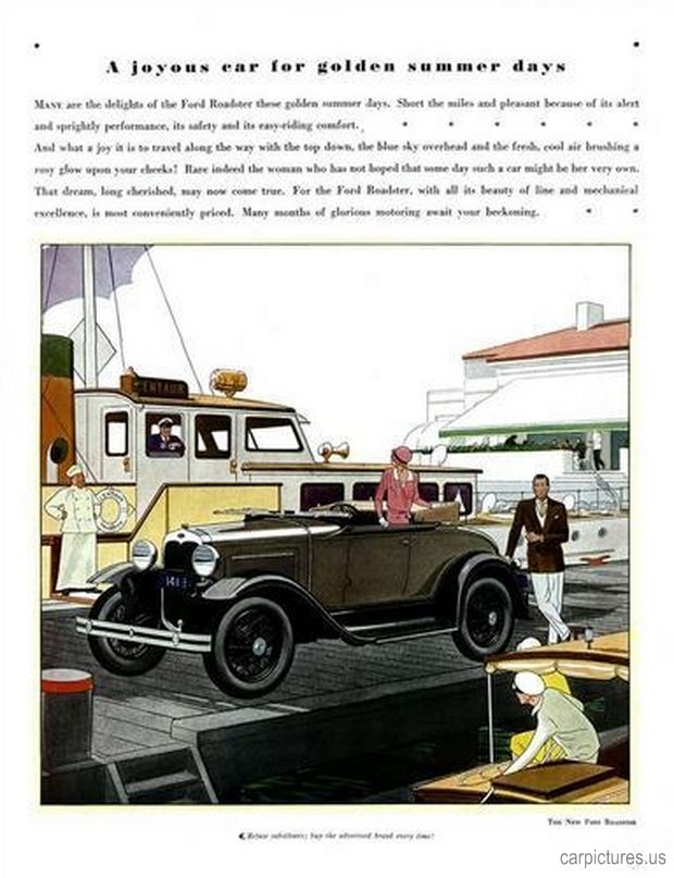 1930 Model A Ford Ad. More Car Pictures: http://carpictures.us ...