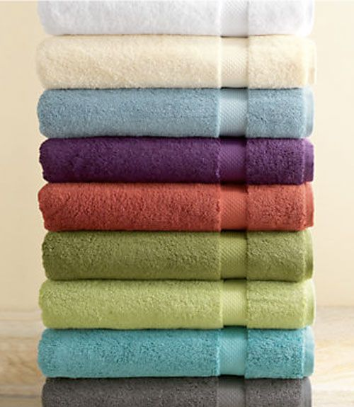 Each set includes a bath towel, hand towel and two wash cloths - each made from 100% organic cotton. Available in nine colors, from cinnabar to seaweed, and clocking in at an impressive 800 gram weight, these are about as luxurious as it gets in home towels. $59 per set at gaiam.com.  - GoodHousekeeping.com