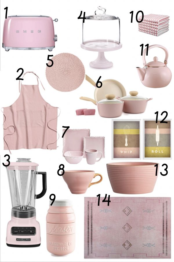 Charmant Albie Knows Blush Pink Kitchen Accessories Shopping Guide