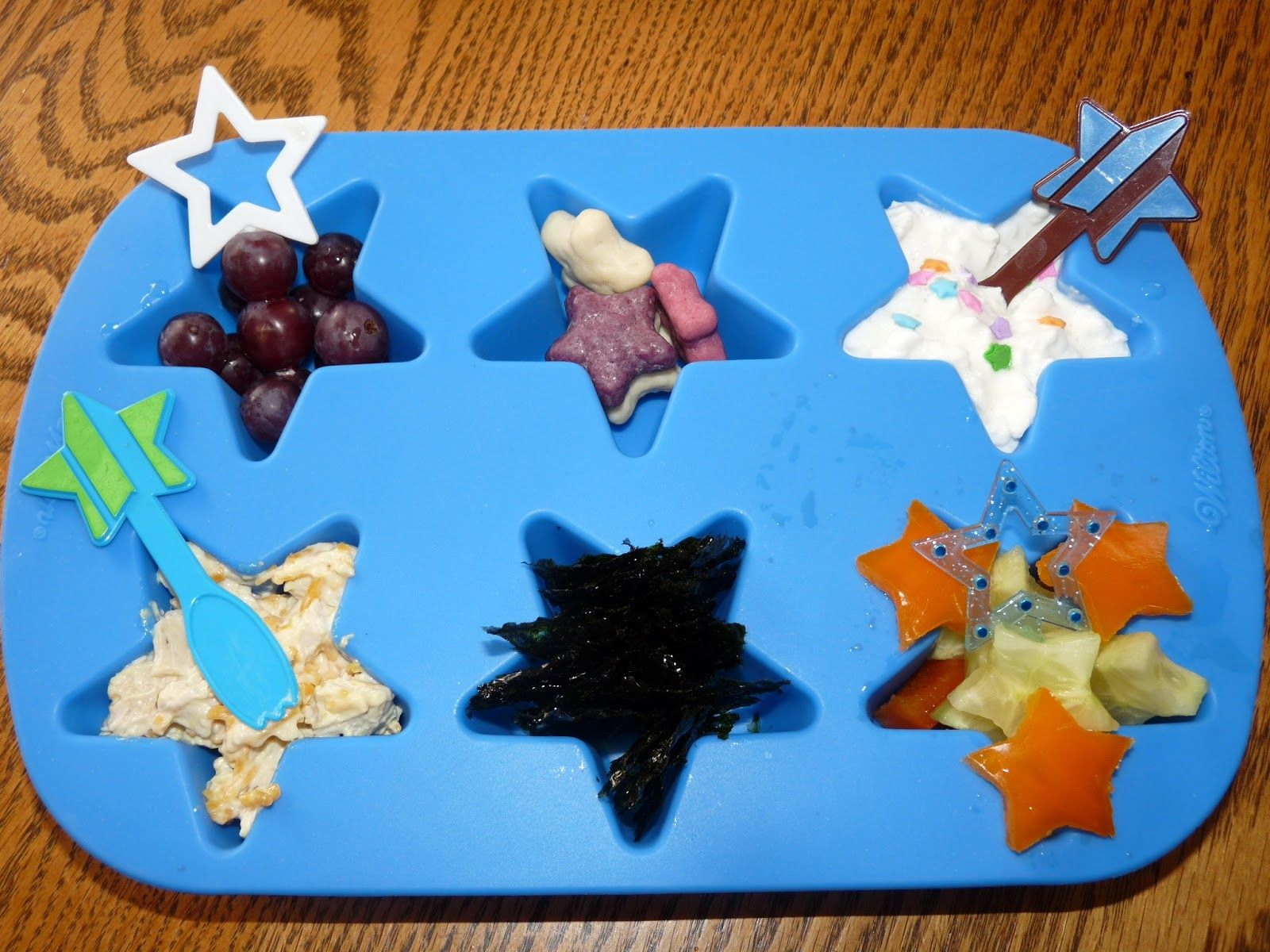 Starry Muffin Tin Lunch
