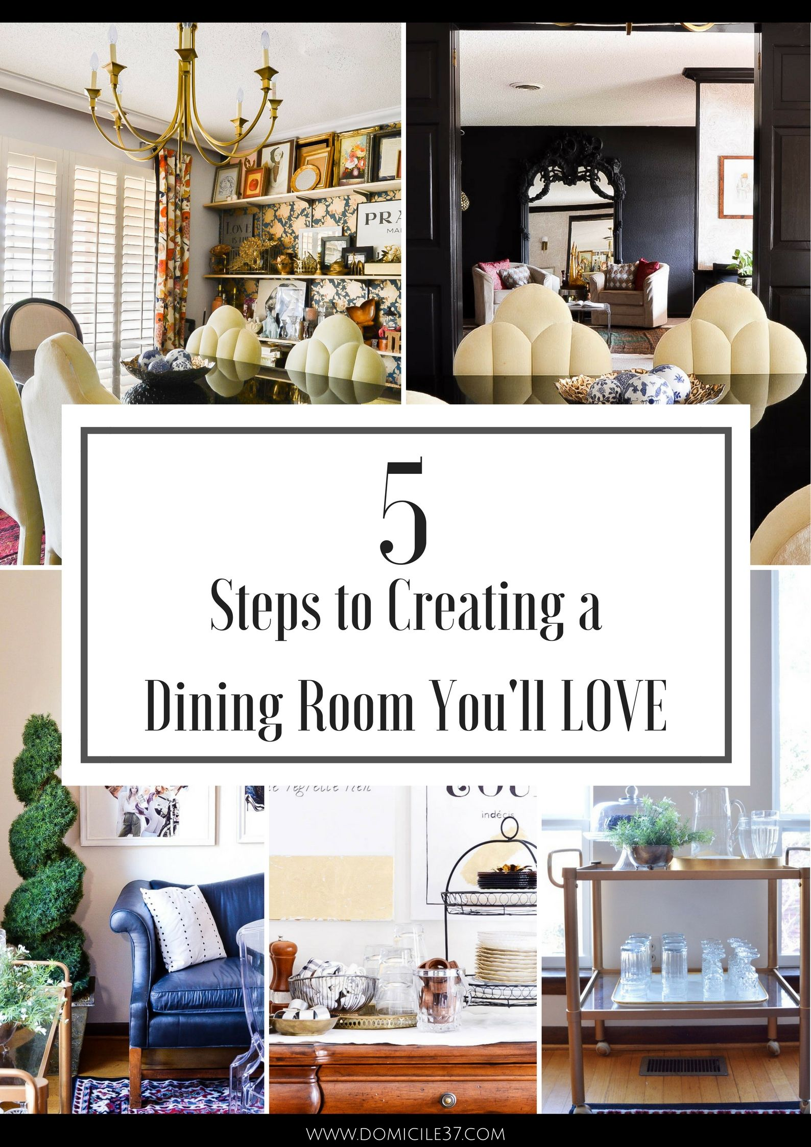 how to spruce up your rental dining room | rental dining room