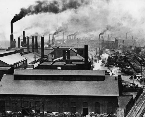 Rooftops And Smokestacks Of Factories | Industrial Revolution | PBS LearningMedia | Industrial revolution, Industrial photography, Industrial