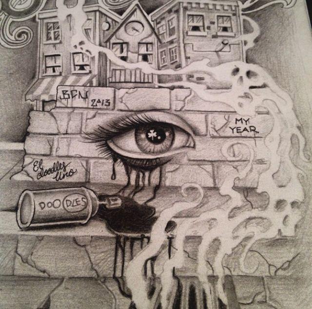 Half Sleeve Neighbor Hood Tattoo With Eye With Images Eye