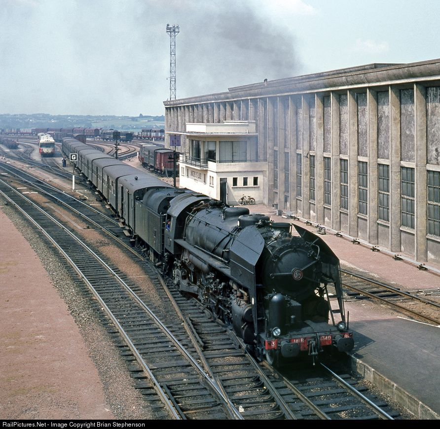 RailPictures.Net Photo: 141R1340 SNCF 141R 2-8-2 at Angers, France by Brian…