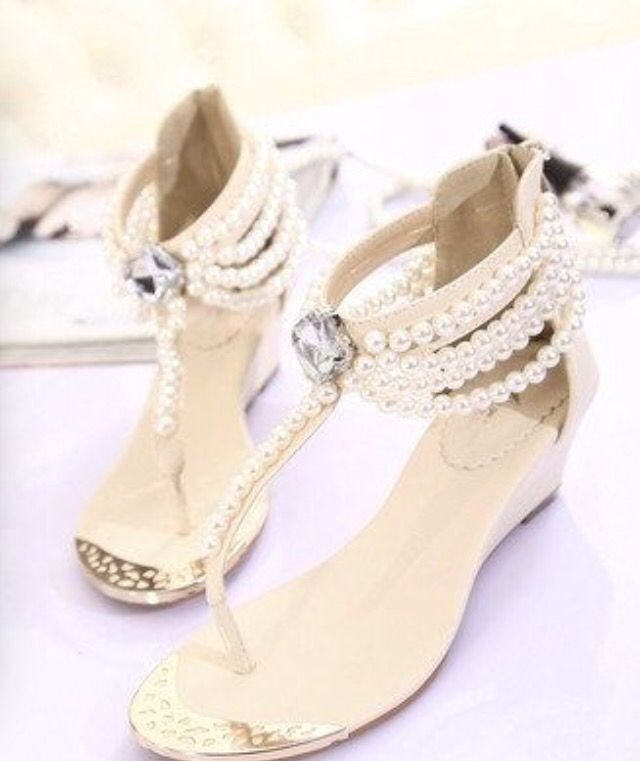 Unique Flat Shoes Pearl Wedding Bridal By Casehome