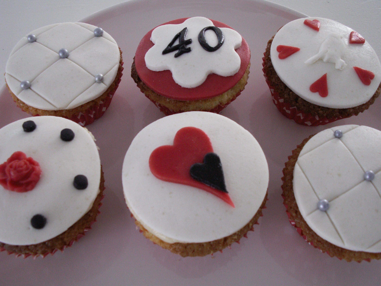 Cupcakes 40 jarig huwelijk http://www-taart-van-miranda.webklik.nl
