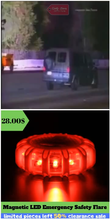 LED Emergency Safety Flare lighting covers 360