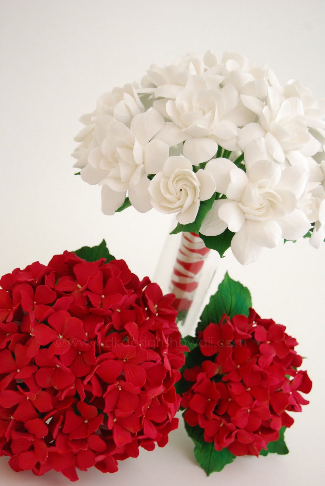 Red & white hydrangea bunches are another great filler flower | Not ...