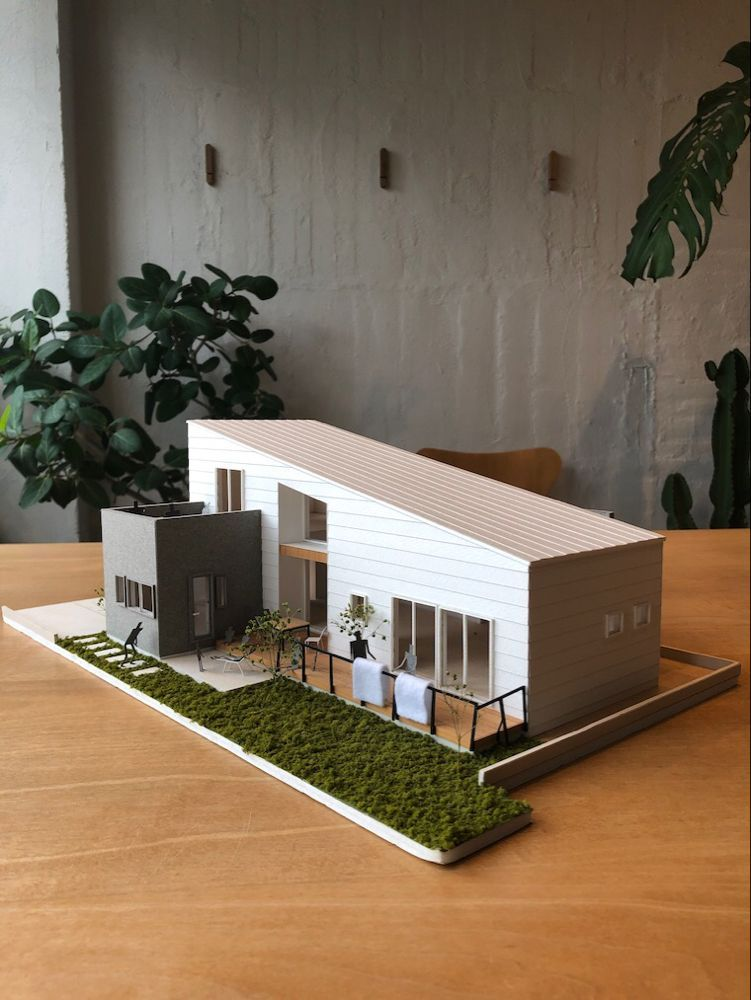 Photo of Planung – Hermelin Haus – – Nagoya City Gehäusedesign Ebene Klasse Architekturbüro Büro Feld