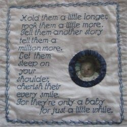 Baby Quilt Label Quotes - Bing Images | Artwork for Quilt Labels ... : memorial quilt quotes - Adamdwight.com