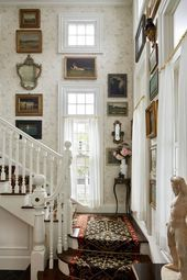 Photo of Thomas O'Brien Reveals New Book, Library House staircase with wh