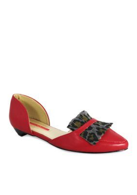 C. Label Women's Hudson 33 Flat - Red - 7.5M