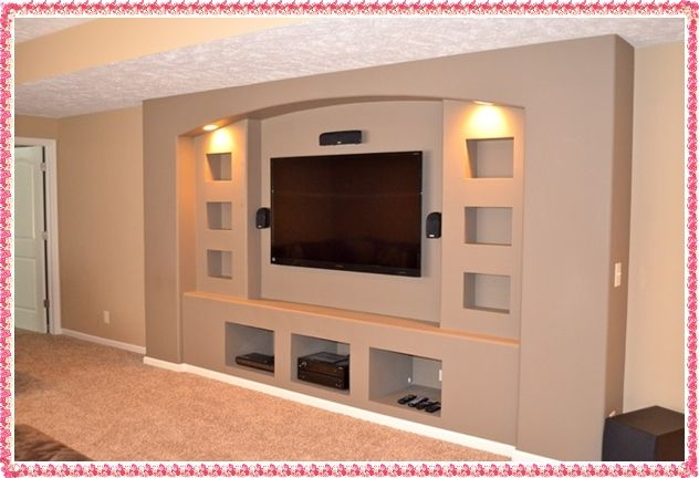 Tv Wall Unit Ideas Gypsum Tv Wall Unit Samples Custom Tv Unit Design Built In Entertainment Center Living Room Entertainment Center Home Entertainment Centers