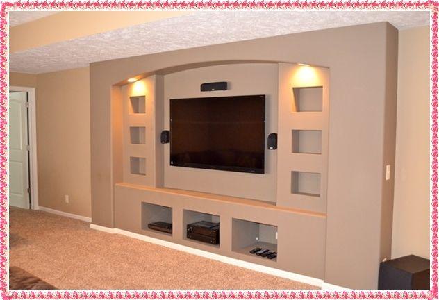 Tv Wall Unit Ideas Gypsum Tv Wall Unit Samples Custom Tv Unit Design Built In Entertainment Center Living Room Entertainment Center Home Entertainment Centers