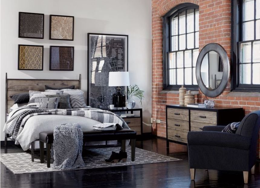 Brooklyn collection inspired bedroom featuring Ethan Allen\'s ...