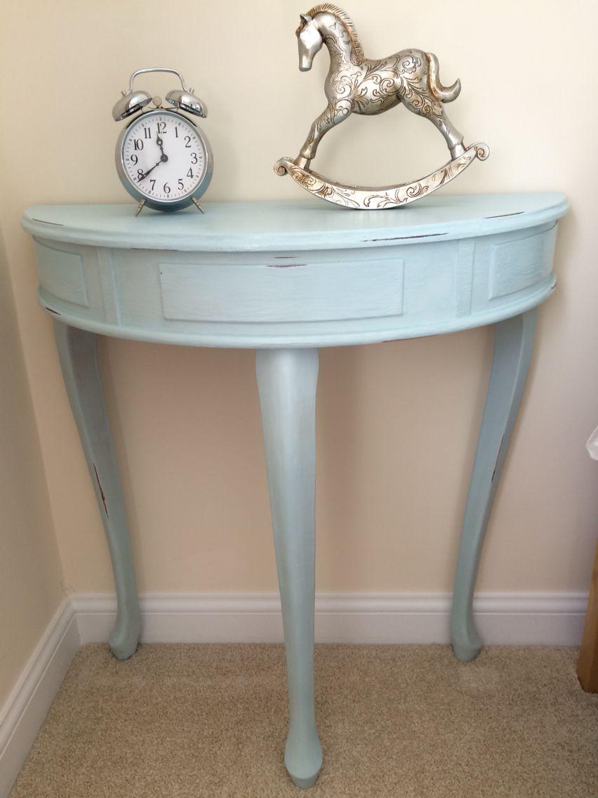 Duck Egg Blue Half Moon Table In Chalk Paint Furnitureflip