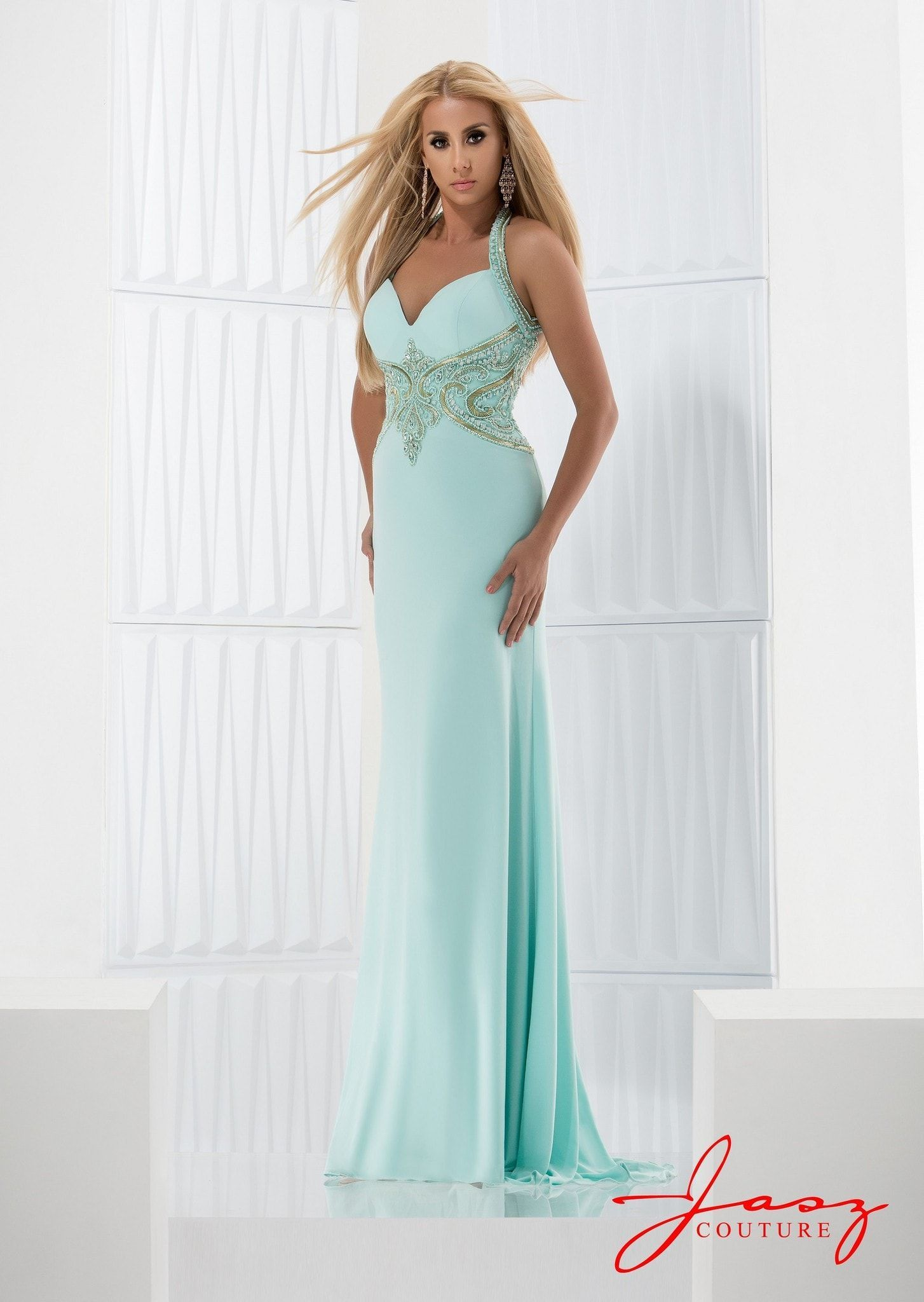 Jasz Couture 5809 Aqua | #Gefällt mir...Evening Dresses Long ...