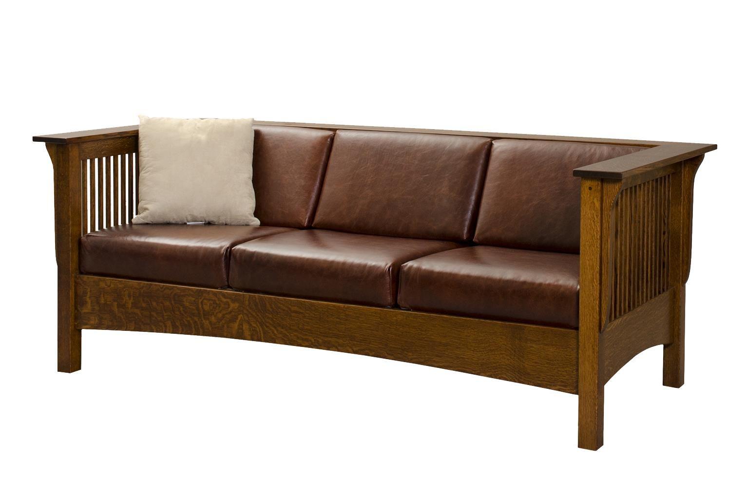 Amish Moon River Mission Sofa Sofa Wood Furniture Living Room