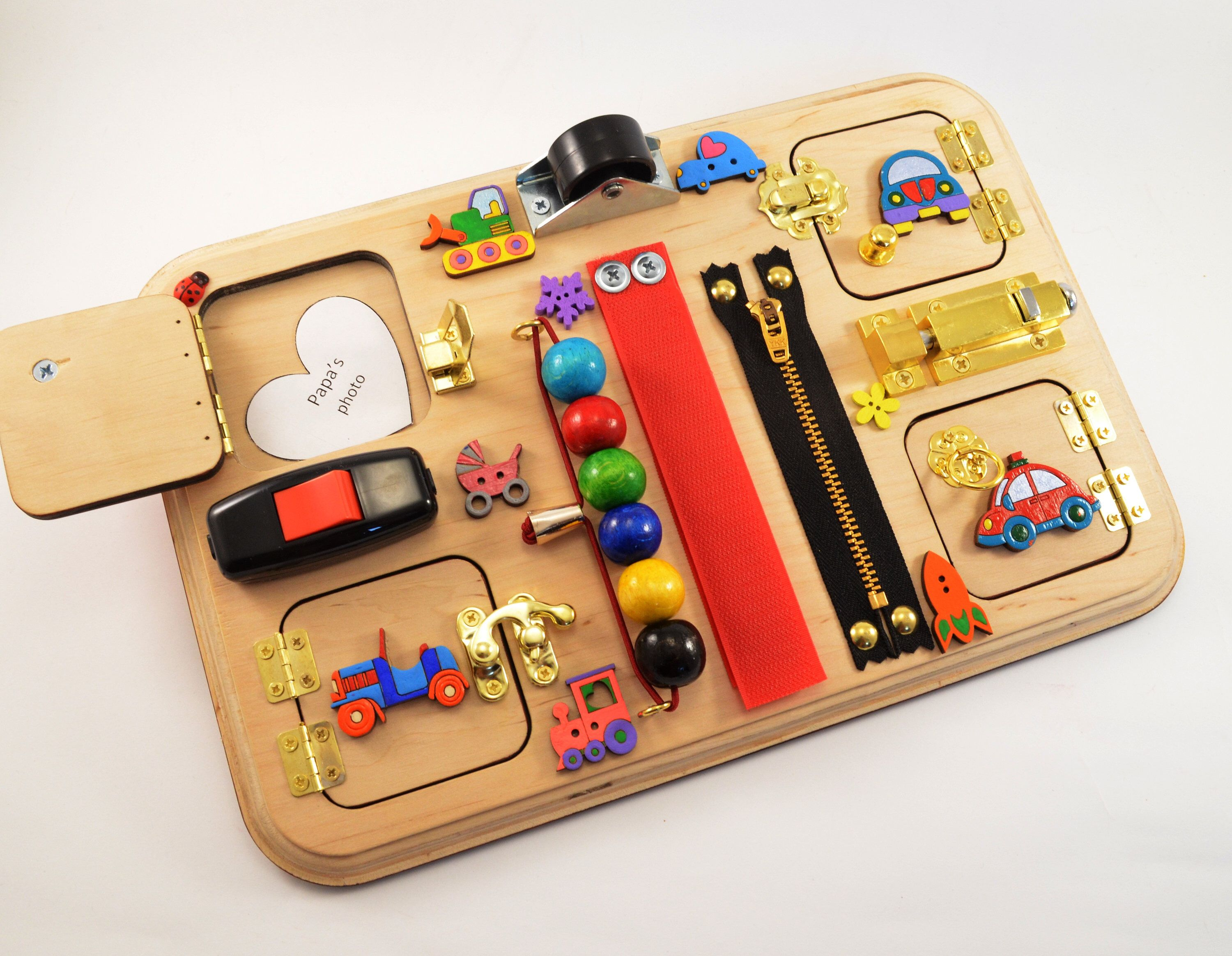 Color Cars Busy Board Busyboard Latch Board Travel Toys Cij Eco