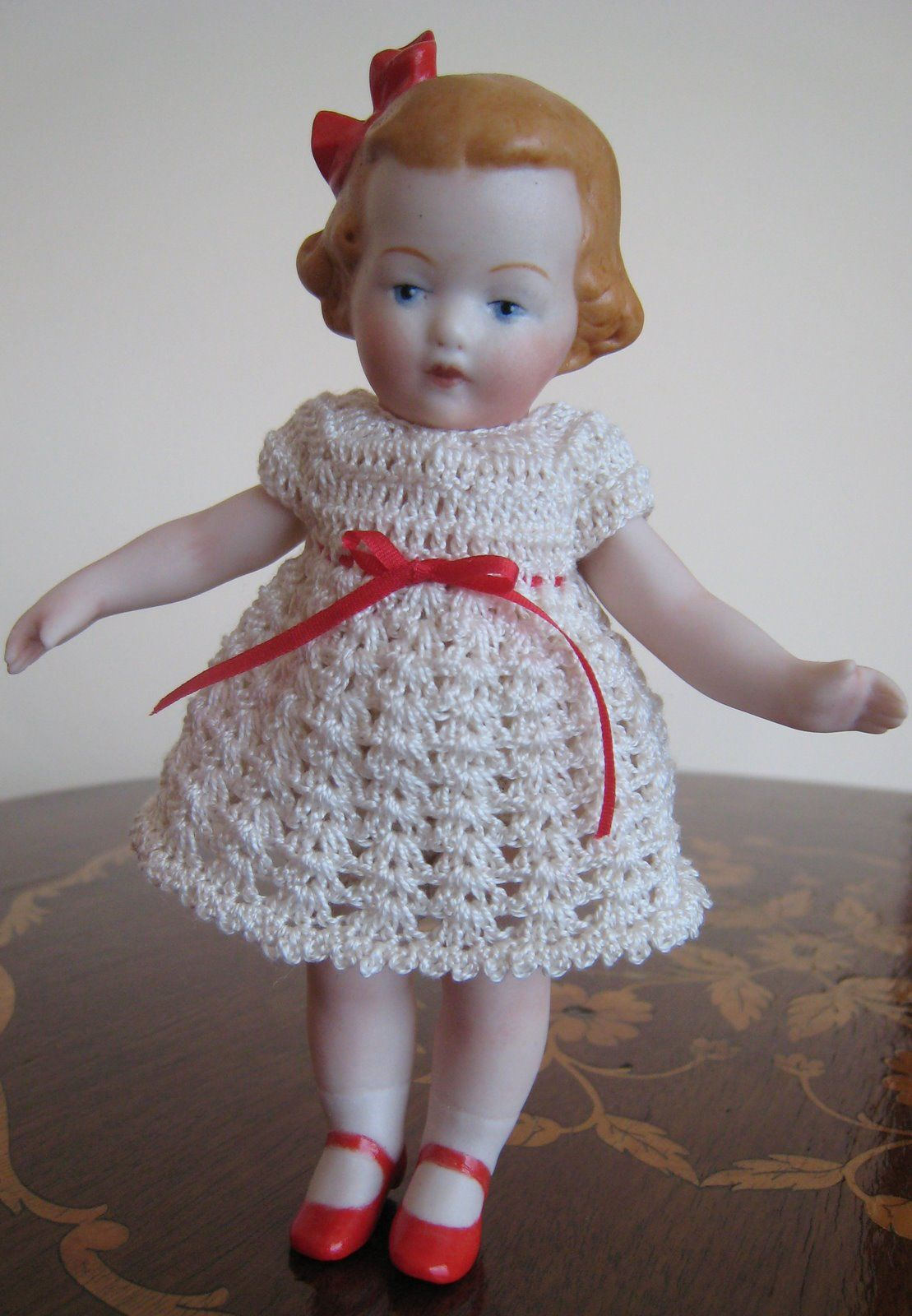 Sweet Crocheted Dress Miniature Crochet Crochet Doll