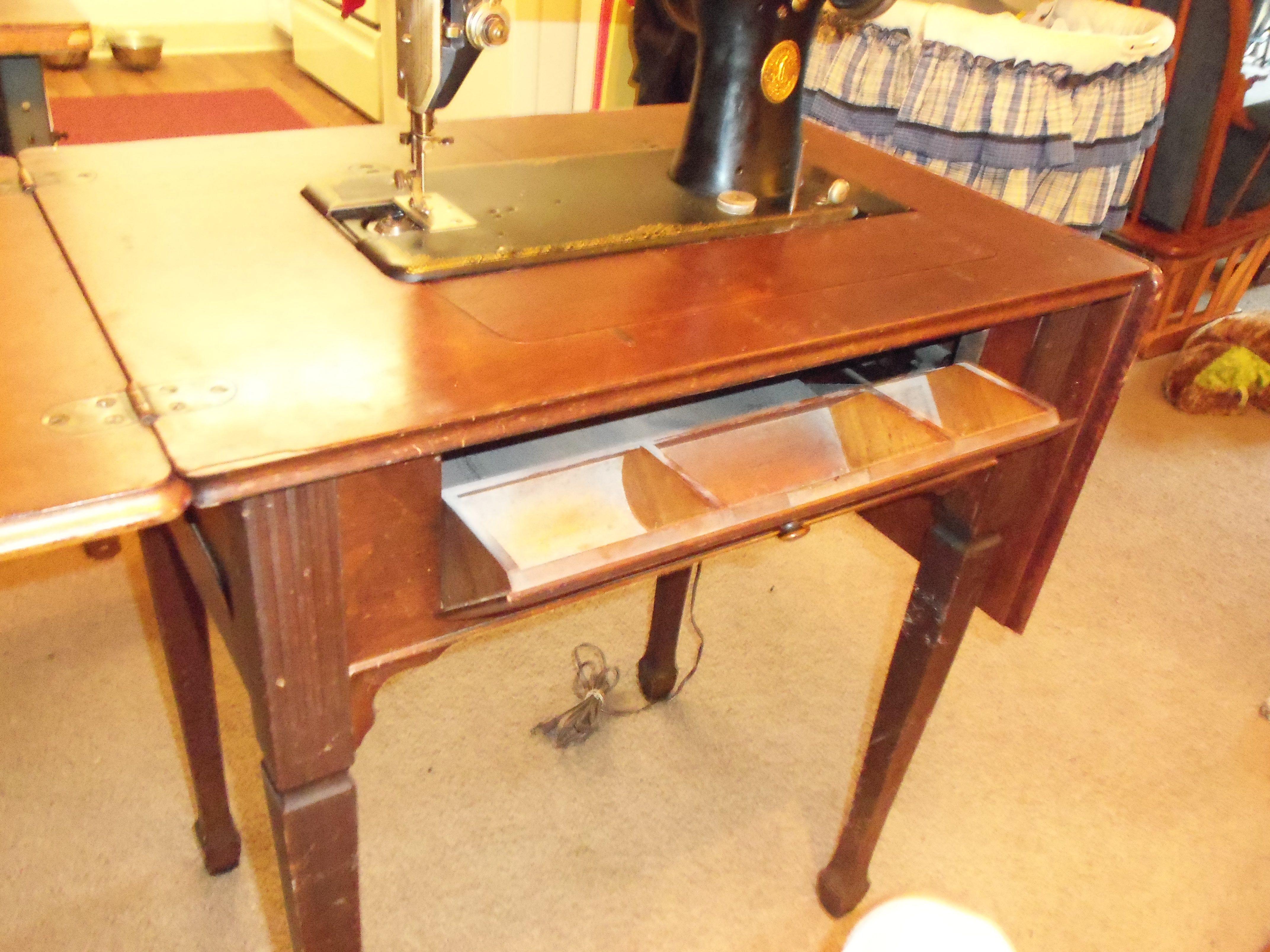 Singer 7 drawer treadle cabinet fit model 66 127 15 7th drawer