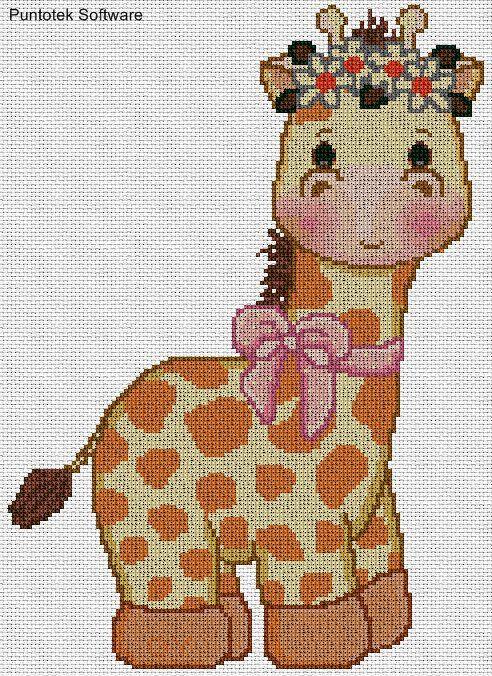 diagramas de animales para bordar jirafa  Buscar con Google