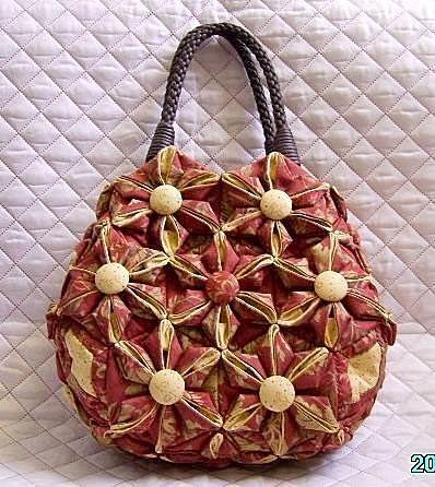 六角形雙色折花提袋