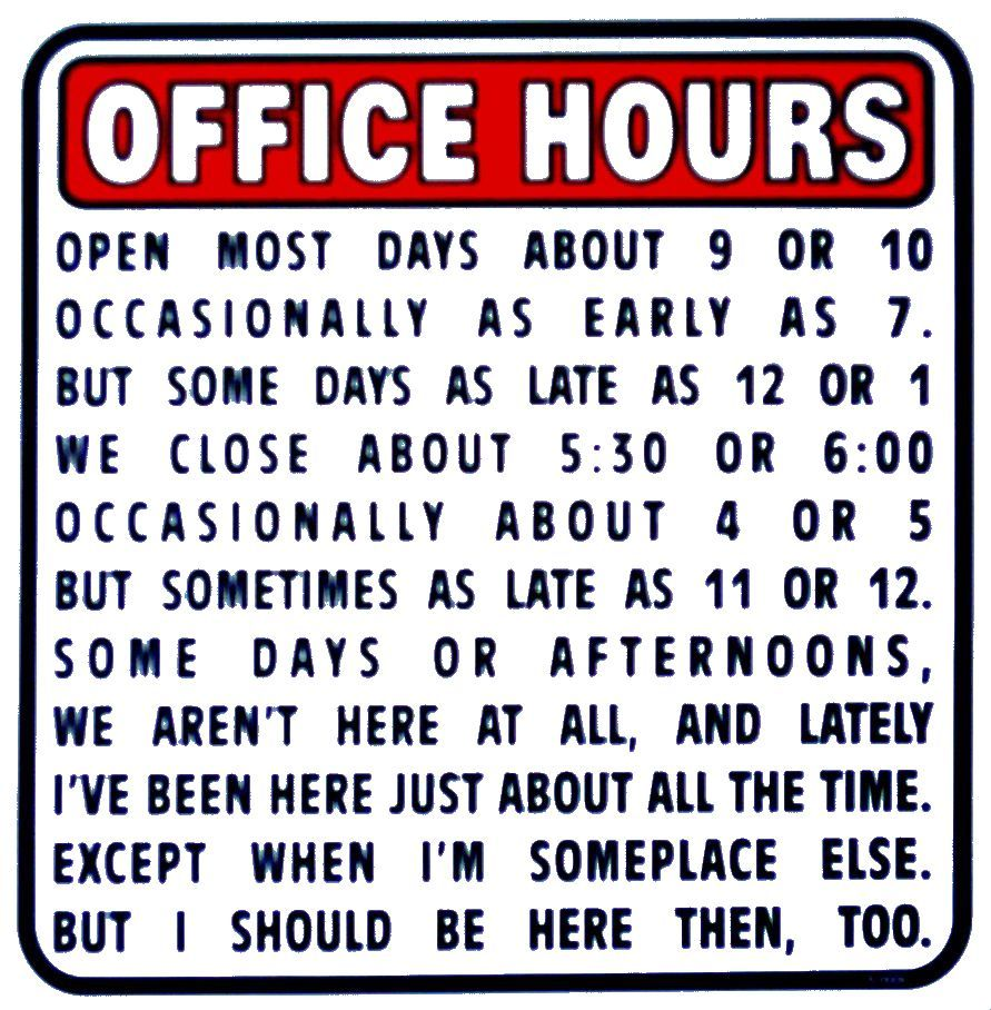 Self-employed....OR My CPA's Office During Tax Season! LOL